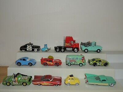 Disney Pixar Cars Vehicles-  Lot of 12 different Cars- Great lot!