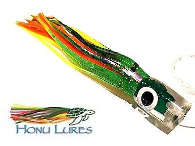 "Fishing Lure Ilander Style 9/"" Trolling Tuna Wahoo Marlin Mahi Iland Green Yellow"