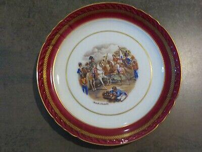 """Assiette en Porcelaine de couleuvre """"Bataille d'Austerlitz 26 cm de diamètre"""