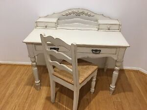 Shabby chic desk & chair Helensvale Gold Coast North Preview