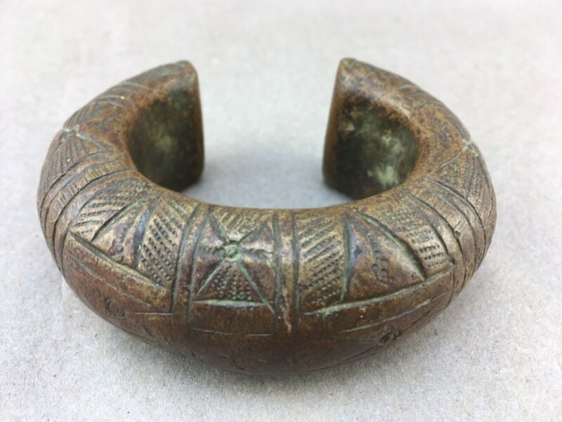 African Bronze Tribal Currency Bracelet