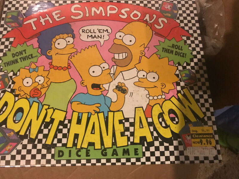 Vintage*Brand-New* 1990 Milton Bradley The Simpsons Don