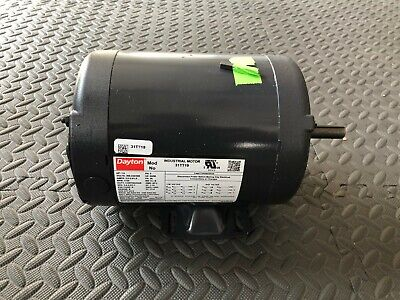 Dayton 31tt19 Electric Motor 3 Ph 1hp 208-230460 1725 Rpm Continuous Duty New