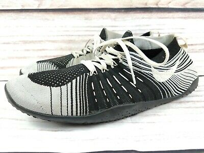 Mens Nike Free Hyperfeel TR Black White Trainers Knit Size UK 10 EU 45