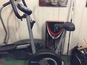 Stationary bike,elliptical , pull-up bar