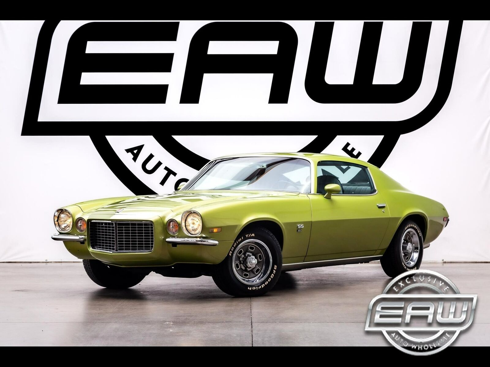 1971 Chevrolet Camaro 2dr Cpe SS 86913 Miles Green Coupe 350 v8 Automatic