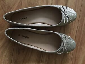 Spring Shoes Gold Flats Size 8.5