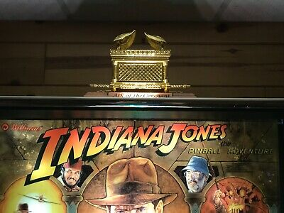 New AMAZING Indiana Jones Pinball Machine Custom Ark Topper with LED Mod
