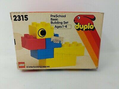 2315 Lego Duplo Pre-School Basic Building Set VTG 1980s NEW SEALED Box Bent 80s