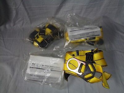 3 New Msa 10072479 Workman Vest Style Safety Protective Harness Osha Regulated