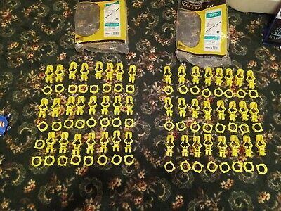 Lot Of 47 Zareba Itsoy-z Electric Fence Insulators Yellow 2 Open Packs 3 Short