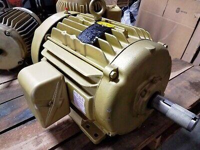 New Baldor 15 Hp 3 Phase Super E Motor  Em2394t  230460 Volt 3520 Rpm