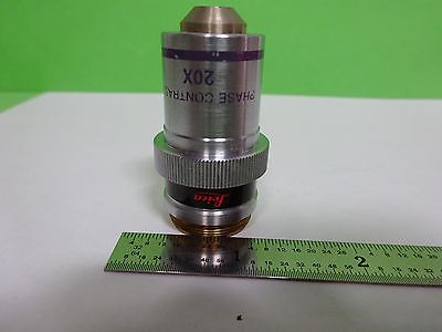 Microscope Part Objective Leica Phase Contrast 20x Optics As Is Biny5-17
