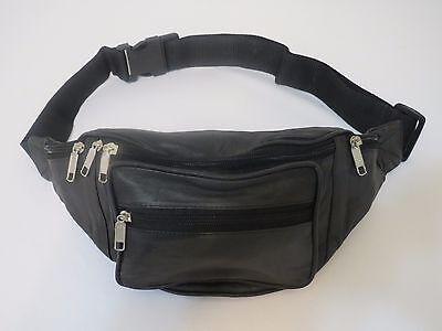 New Genuine Leather Fanny Pack Waist Bag Hip Belt Pouch Travel Purse Men Women.