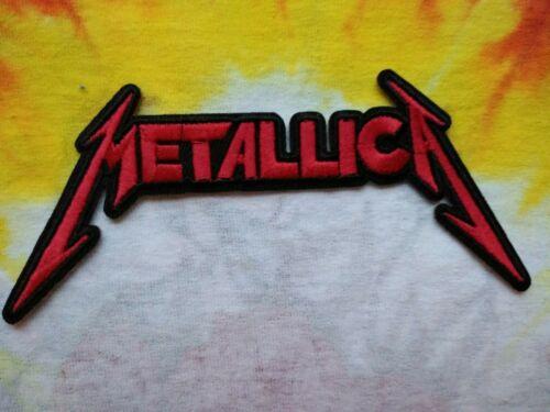 Metallica Red & Black Logo 5.25 x 2.75 Inch Iron On Patch