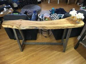 rustic live edge Ash bar,buffet,couch table