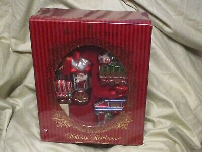 NWT WATERFORD Holiday Heirlooms LISMORE Christmas Train 3 Piece Ornament Set