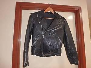 Black leather Brando style jacket Florey Belconnen Area Preview