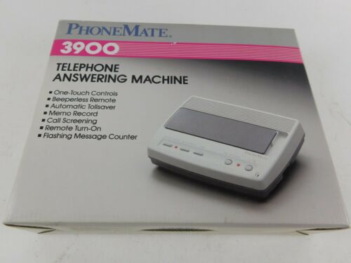 Vintage 1990 PhoneMate 3900 Automatic Remote Telephone Answering Machine NEW