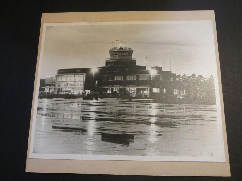 "Stunning 1950s 11""x14 BWOriginal Art Photo RICHMOND MUNICIPAL AIRPORT Byrd Field"