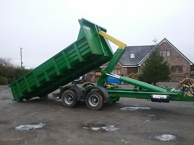hook lift trailers roll on off farm hookloader low loader tipper dumptrailer