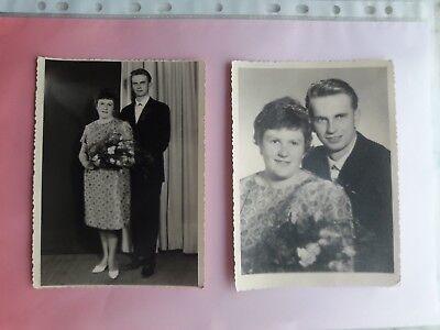 """2 Orig. Fotos, Familie, vor 1945, """"Hochzeit""""."""