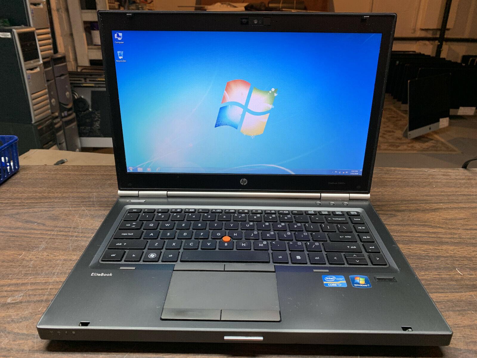 "Laptop Windows - HP EliteBook 8460w 14"" Laptop - Intel Core i7, 500GB HDD, 8GB RAM, Windows 7 Pro"