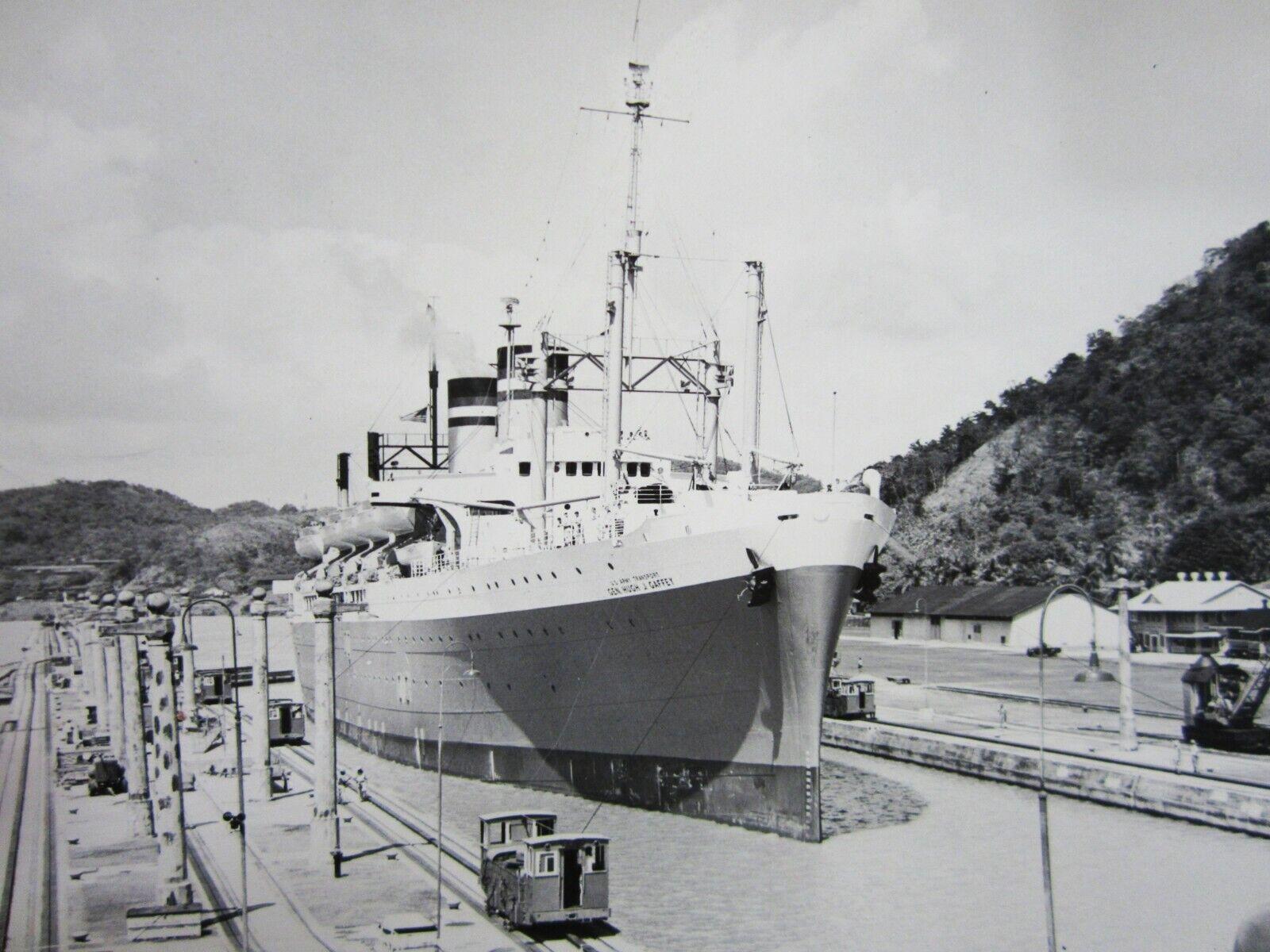 USAT General Hugh J. Gaffey Photo Panama Canal Pedro Miguel Locks 1946-50
