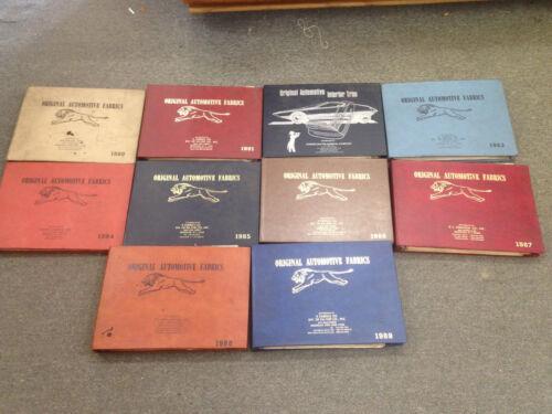 Detroit auto Fabric Books, Original Auto Fabrics, Original automotive interior t