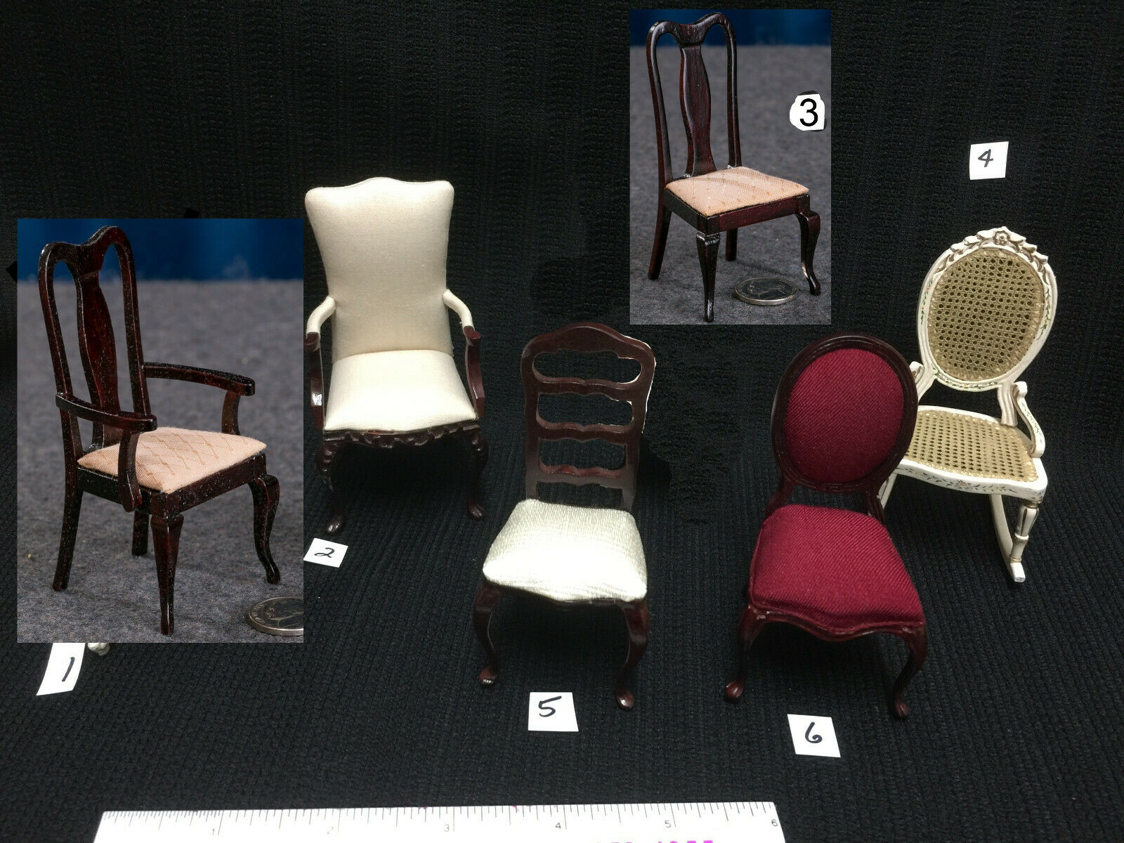 Choice of High Quility  Wood Miniature Dollhouse CHAIR in 1: