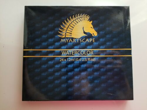 Myartscape Artist Quality Watercolors -24 color set 12ml tub