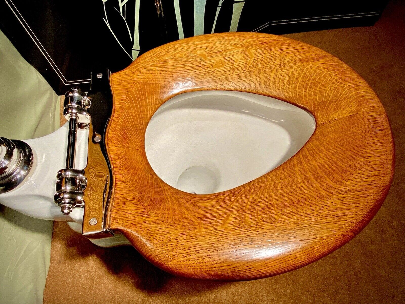 antique  1900  wall mounted victorian toilet restored rare elongated bowl