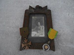ORIGINAL WW1 FRENCH MEDAL Medaille Militaire Croix Guerre Photo - France - ORIGINAL WW1 FRENCH Lot 2 Medals Medailles Militaire and Croix Guerre with Photo Infantry Soldier !Good Condition.please see the photos for more of details !original item no reproduction or copie.shipping cost: registered: 15 i accept paypal paie - France