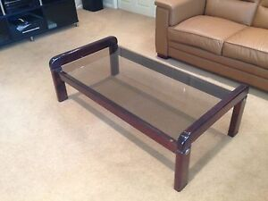 Glass top Pine Coffee Table 131cm X 69cm Marsfield Ryde Area Preview