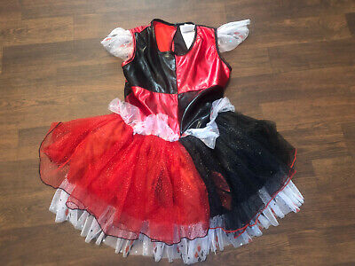Girls DC Comics Harley Quinn Halloween Tutu Dress ONLY Costume Size M Medium H79