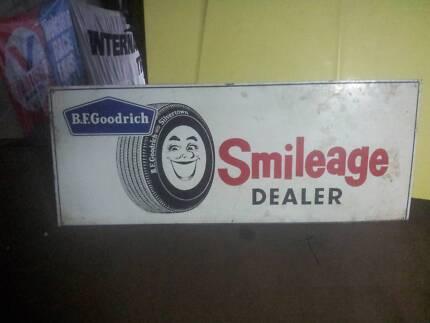 Bf goodrich tyres metal rare vintage sign