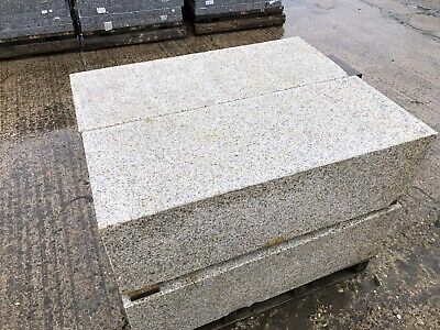 STUNNING OATMEAL GRANITE KERBS , BLOCKS EDGING ,STEPS  BARRIERS - CAN DELIVER