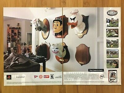 NCAA GameBreaker PS2 2004 Vintage Print Ad/Poster Official Football Game Art