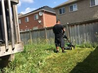 Overgrown grass cutting in Brampton and Missuga