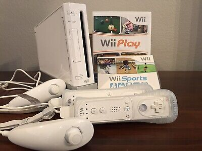 Nintendo Wii Console with Wii Sports, Wii Play, Controllers