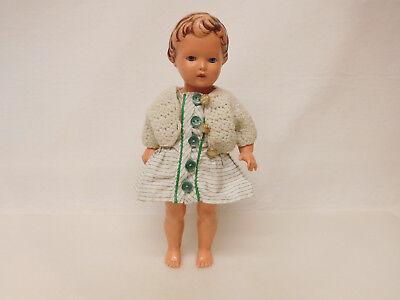 ESF-02317Ältere Schildkröt-Puppe, Kunststoff, feststehender Kopf
