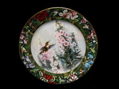 Bradford Exchange The Rufous Hummingbird Lena Liu's Hummingbird Treasury Plate