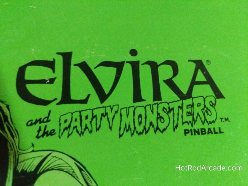 Elvira and the Party Monsters- Bally - Pinball Manual  -Used Copy