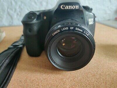 Canon EOS 60D 18.0MP Digital SLR Camera - Black w/ Canon 50mm. 1:1.4