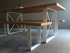 Custom Made Timber Industrial Outdoor  Dining Setting Carlton North Melbourne City Preview