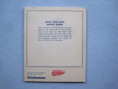 1964/65 TORONTO STAR WEEKLY NHL HOCKEY PHOTO ALBUM PANEL DETROIT RED WINGS