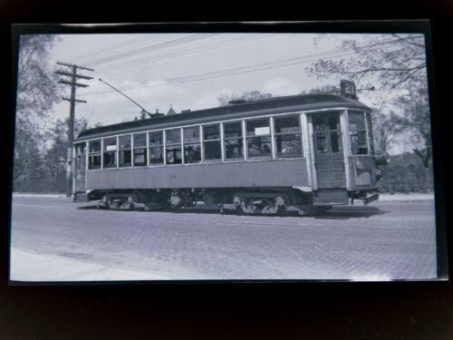 ORIG 1930s Chicopee Falls Trolley Holyoke Railway 616 Photo Negative