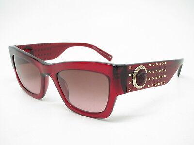 b53d717222 New Versace VE 4358 5297 14 Transparent Red w Violet Brown Gradient  Sunglasses