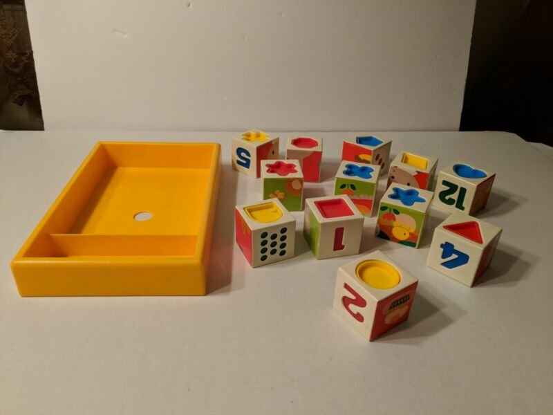 Gakken Toddler Activity/Shape/Number/Animal/Number/Counting Puzzle Blocks W/Tray