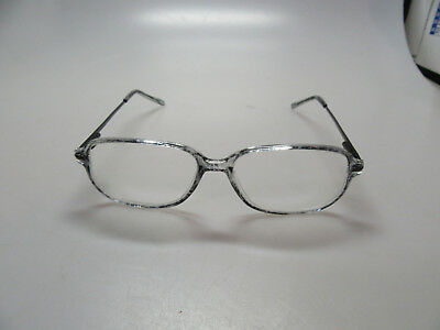2 MENS/WOMENS/ADULT EYEGLASSES FRAMES-GREY/BLACK/WHITE-PLASTIC & METAL (Mens White Eyeglass Frames)